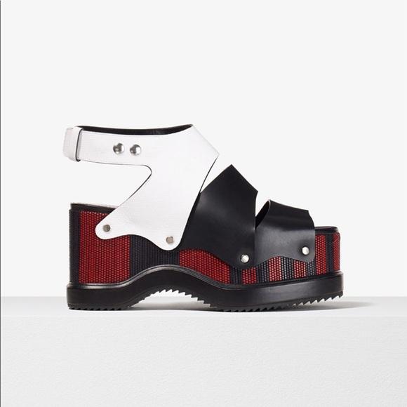 c94bacdd068 Proenza Schouler Woven leather platform sandals